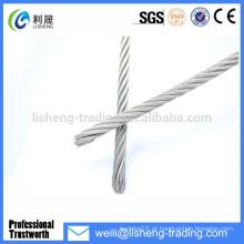 7x7 galvanizado / não galvanizado fio de aço