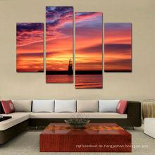 Sonnenuntergang Lanscape Multi Panel Leinwand drucken