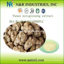 Extracto de Notoginseng Rb1 + Rc + Rb3 + Rd> HPLC al 60%