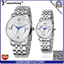 Yxl-557 2016 Fashion Stainless Steel Couple Watches Lovers Quartz Watch Gift Watches