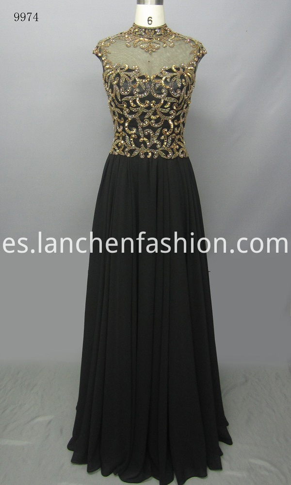 Charming High Neck Evening Dress