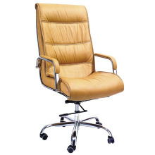 Cadeira de escritório de chefe executivo moderno alto de costas para couro (HF-BLA149)