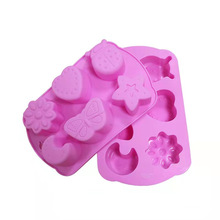 6 Cavity Insect Butterfly Moon Star Love Heart Mold For Ice Make Chocolate Cake Soap Making Silicone Insect Butterfly Soap Mold