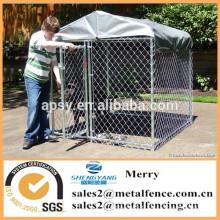 chaîne extérieure lien chien chenil enceinte clôture avec toit