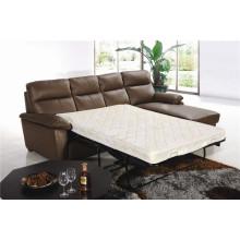 Sofá de sala de estar com conjunto moderno de sofá de couro genuíno (777)