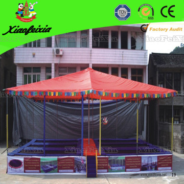 Six Bed Trampoline with Roof