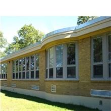 Fenêtres simples accrochantes en aluminium avec le verre simple