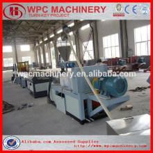 Деревянная пластиковая композиция wpc профиль / доска / дверная машина wpc риса шелуха пластиковая машина