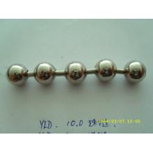 Китайская цепь поставщик пользовательских блестящий цвет металлический мяч цепь для занавеса