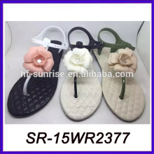 Blume kleine Mädchen nackt Strand Sandale Damen fancy flache Sandale Sandale in China gemacht