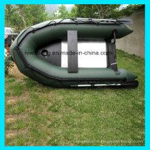 Float Tube de bateau de pêche gonflable avec plancher en aluminium