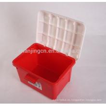 Heavy Duty fácil movimiento caja de almacenamiento de plástico colorido para el recipiente de almacenamiento de artículos para el hogar caja de plástico al por mayor