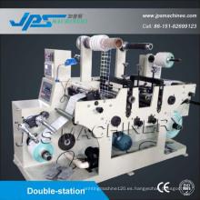 Doble-Estación de la etiqueta Totalmente Rotatorio Die-Cutter con función de corte