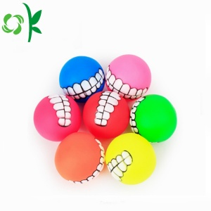 Rolig Pet Teether Silikon Hund Chew Toy Balls