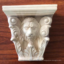 Wood Carved Decorative Animal Lion Capitals Corbels