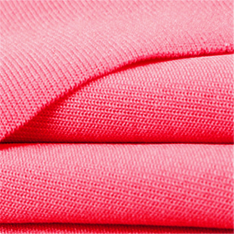 Rose Red Polyester Stretch Smooth Milk Silk Fabric 2