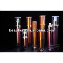 Bouteille de cosmétique acrylique ronde de luxe 15ml 30ml 60ml 120ml