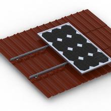 Soporte de instalación del panel solar Techo de pendiente Montaje solar de aluminio