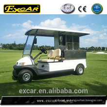 Carro de golf eléctrico de la cantina del carro de golf de 2 seater para el hotel