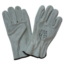Cowhide Split Leather Hand Protective Safety Drivers Working Gloves
