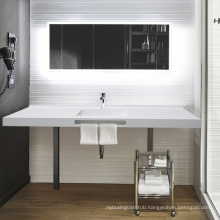 European Style Three-Piece Solid Surface Resin Bathroom Vanity Set For Bathroom