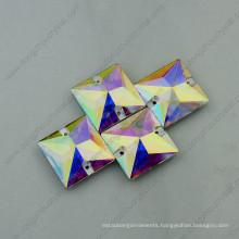 Sqaure Shape Ab Crystal Garment Stones (DZ-3068)