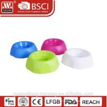 Alimentador plástico do animal de estimação com 4 cores