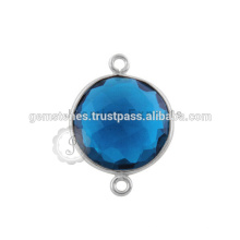 925 Sterling Silver Bezel Gemstone Connectors Bezel Setting Conectores