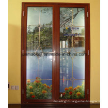 Aluminum Door in Brown Color
