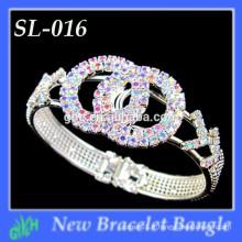 Bracelet de la Coupe du Monde, Light Crystal Glass Topaz avec bracelet de conception AB
