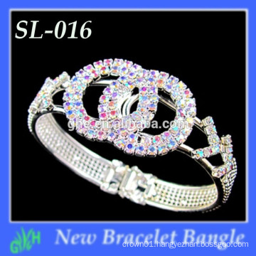 World Cup Bracelet, Light Colorado Topaz Crystal Glass With AB designs bracelet