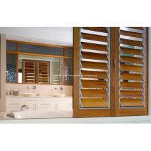 Wohnzimmer Wohn-Rahmen Holz Korn Aluminium Louvre Fenster