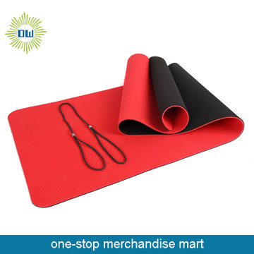 10mm pvc or eva yoga mat with sling