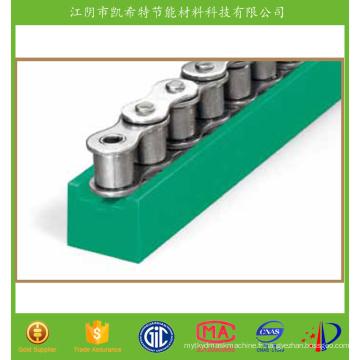Profilé en plastique Nylon 66 Guide des chaînes en fibre de verre