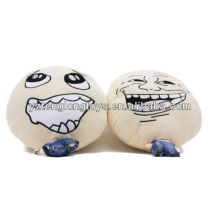 Small body big head cute plush doll soft doll with different expression