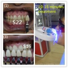 Клиника использует вертикальную систему отбеливания зубов