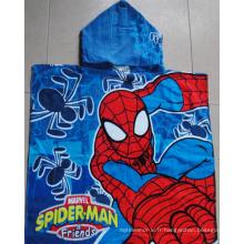 (BC-PB1005) Poncho de plage pour enfants 100% coton imprimé de haute qualité