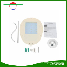 Nueva iluminación al aire libre 4000mAh 12 15 18LED Solar Street Light Garden Pathway lámpara de pared LED panel solar luz jardín decoración