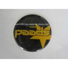 Autocollant décoratif décoratif de logo de dôme de 3D, autocollant époxyde adhésif, autocollant en résine époxyde de type d'étiquette de dôme