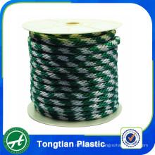 Corde de polyester tressée 6 brins de vente chaude qui respecte l'environnement 6mm