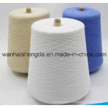 Vente chaude coton mélangé fil teint