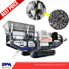 High efficiency Safety equipment mobile stone jaw crusher