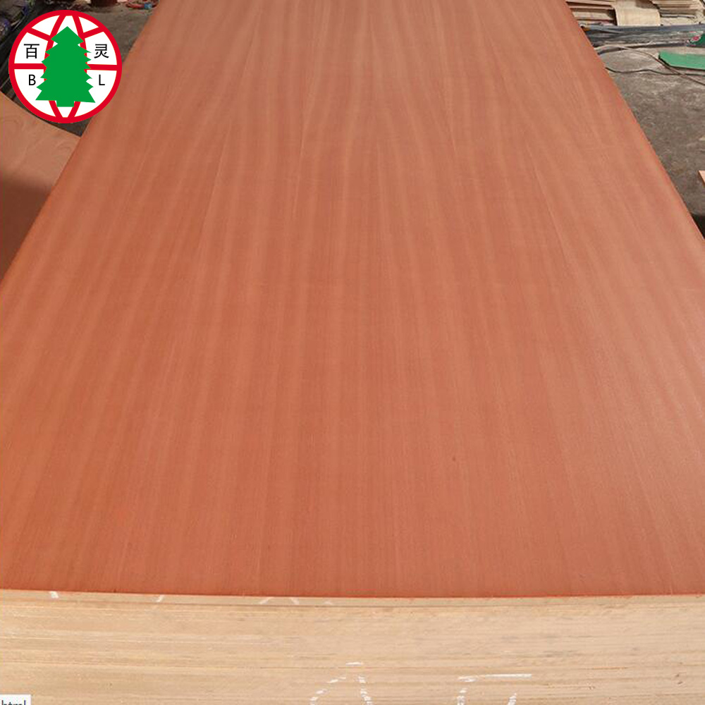 sapele placage contreplaqué 3.2mm 12mm 15mm 18mm