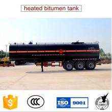 36 Cbm climatizada Semi acoplado del tanque del betún