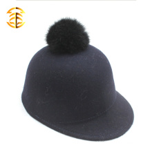 100% Wool Adults or Kid Custom Snapback Wool Custom Snapback Cap Wool Buck Hat With Fur poms