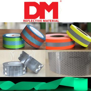 fashion bicolor segmented breathable soft flame retardant heat transfer reflective film tape for Aramid flame risistant garments