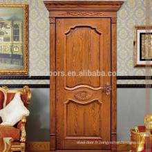 Architrave sculpté et caisson porte en bois porte à un seul battant