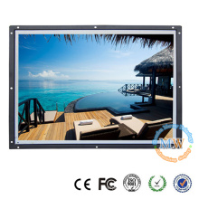 Build-in type 19 inch open frame monitor with HDMI VGA DVI input