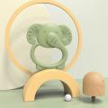 Juguetes de dentición de silicona de elefante personalizados sin BPA