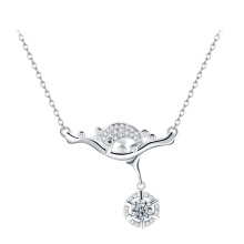 Factory price high quality animal dolphin sterling silver necklace for all occasion
